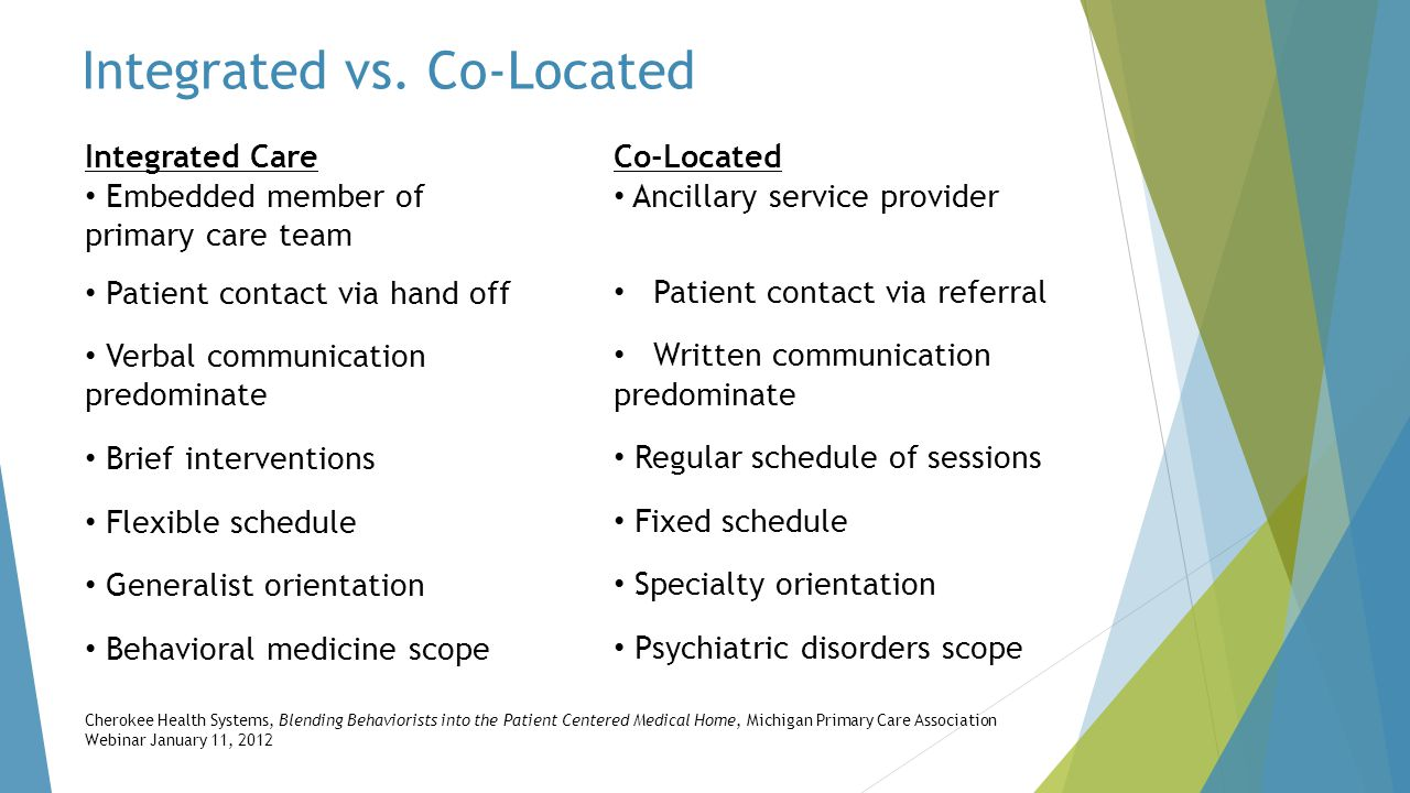 Integrated vs. Co-Located