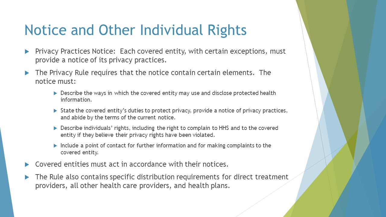 Notice and Other Individual Rights