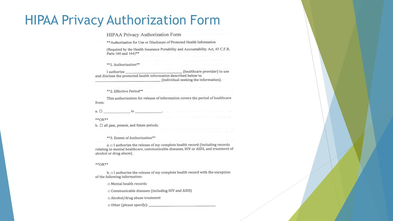 HIPAA Privacy Authorization Form