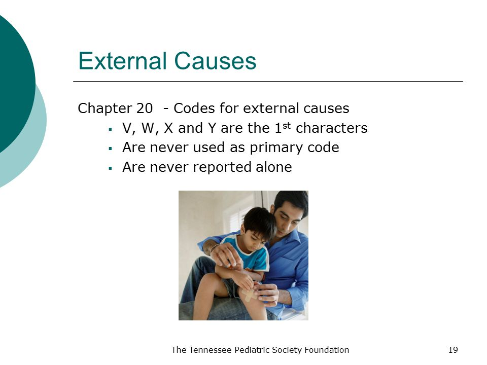 External Causes Chapter 20 - Codes for external causes