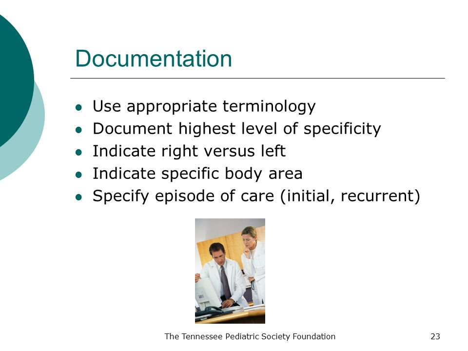 Documentation Use appropriate terminology