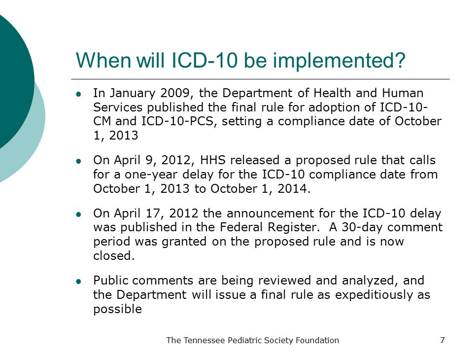 When will ICD-10 be implemented