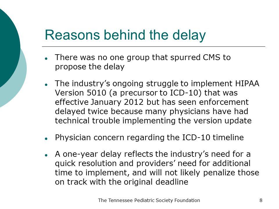 Reasons behind the delay