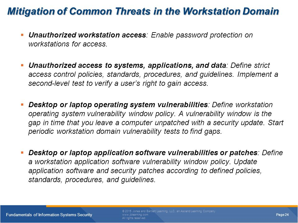 Mitigation of Common Threats in the Workstation Domain