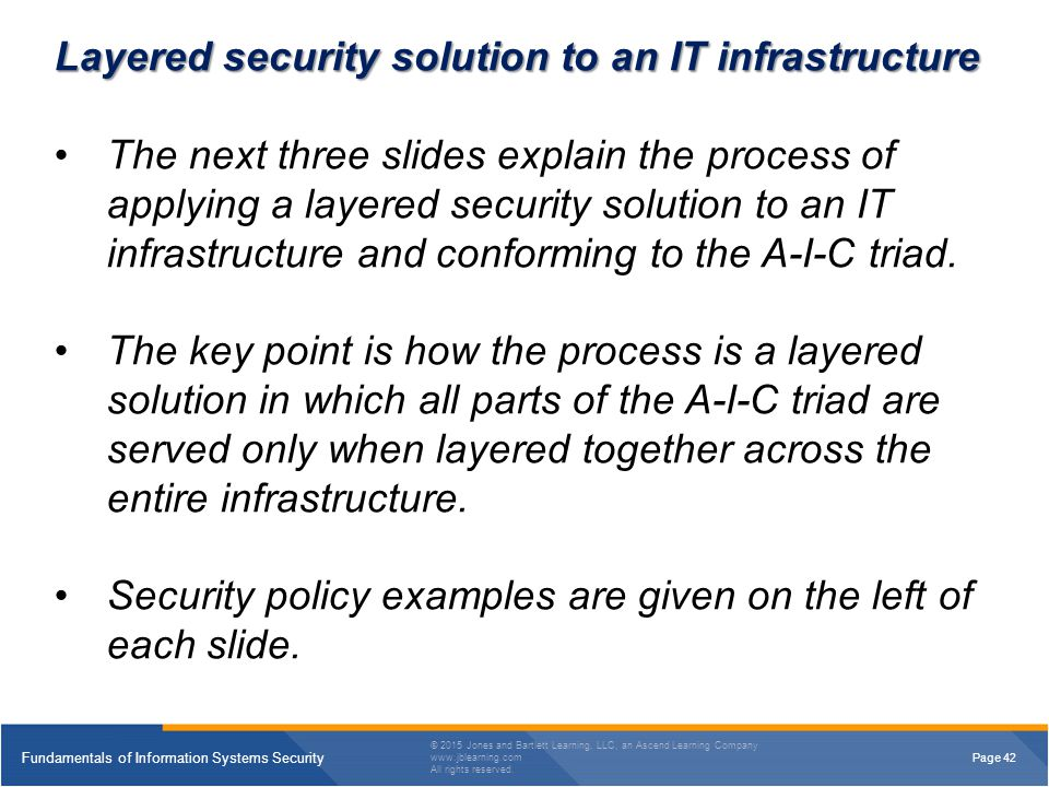 Layered security solution to an IT infrastructure