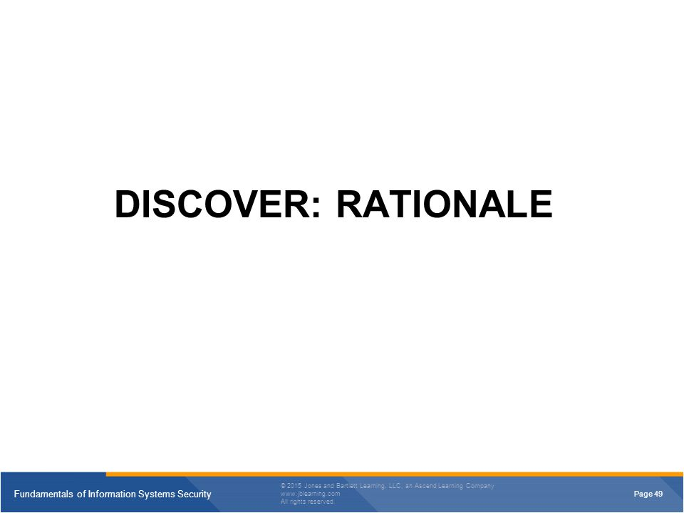 DISCOVER: RATIONALE