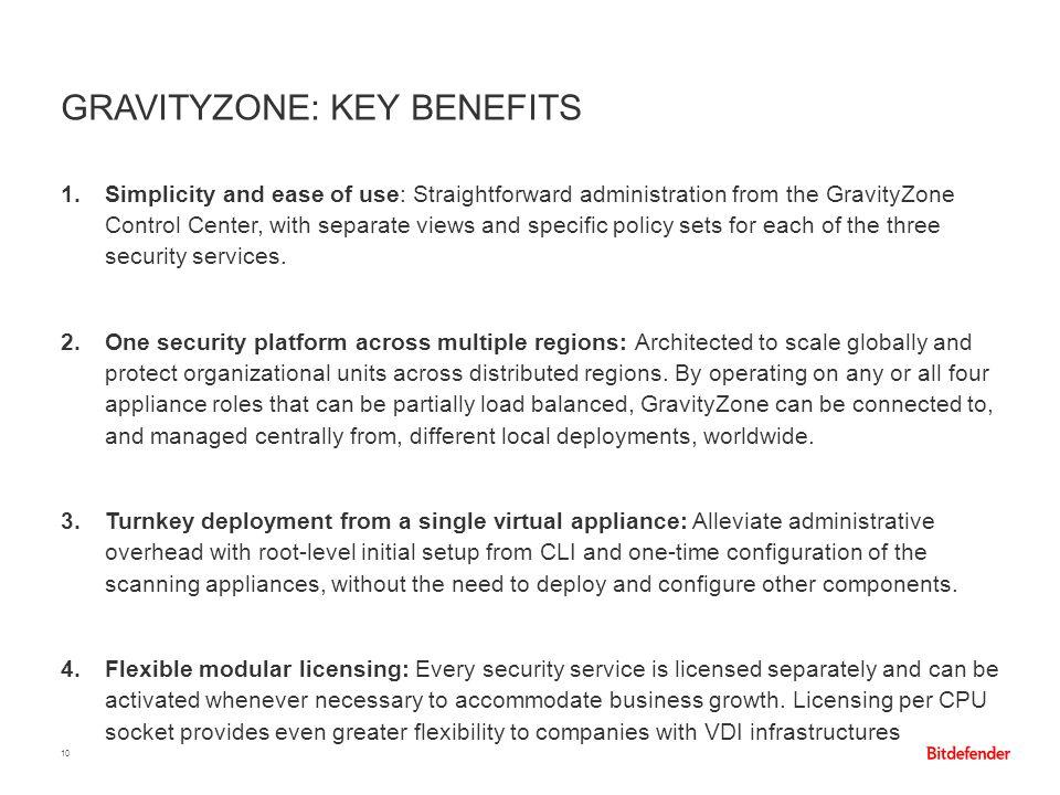 GravityZone: Key Benefits