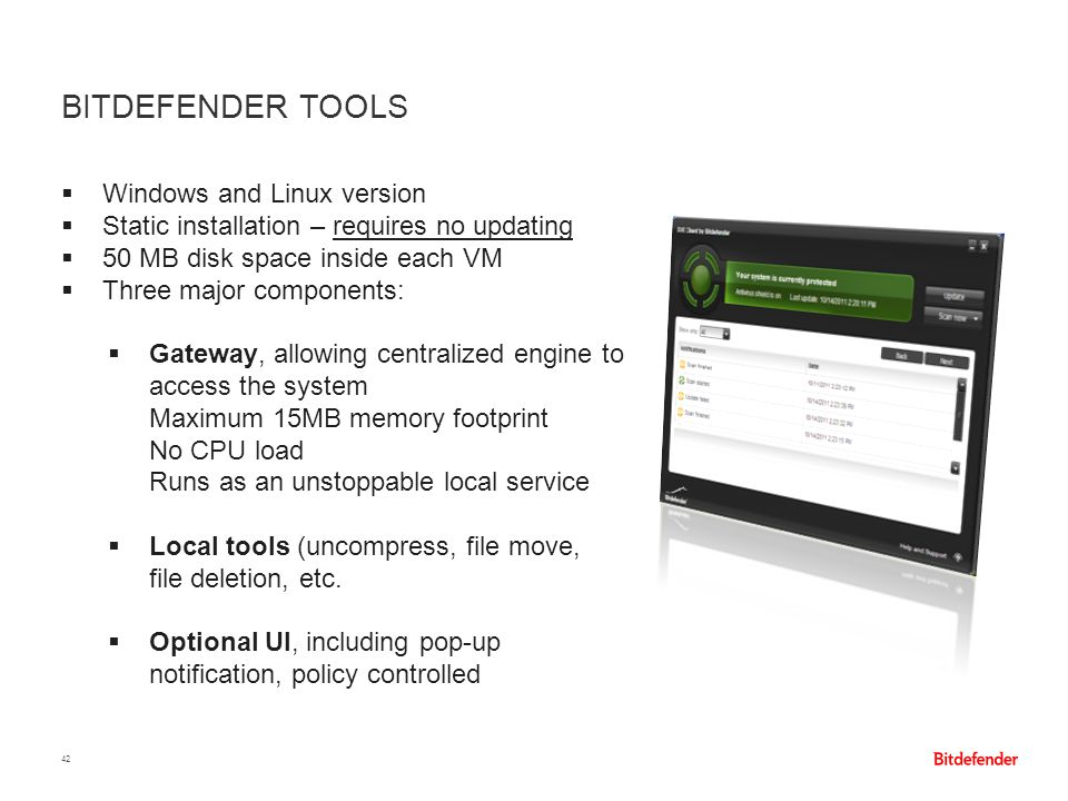 Bitdefender Tools Windows and Linux version