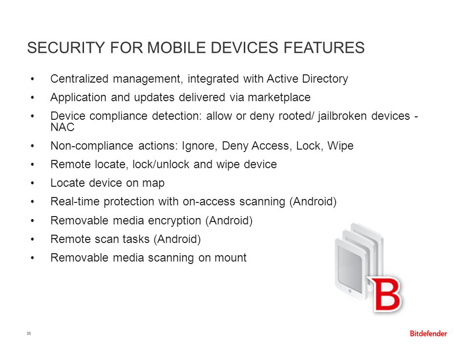 Security for Mobile Devices features