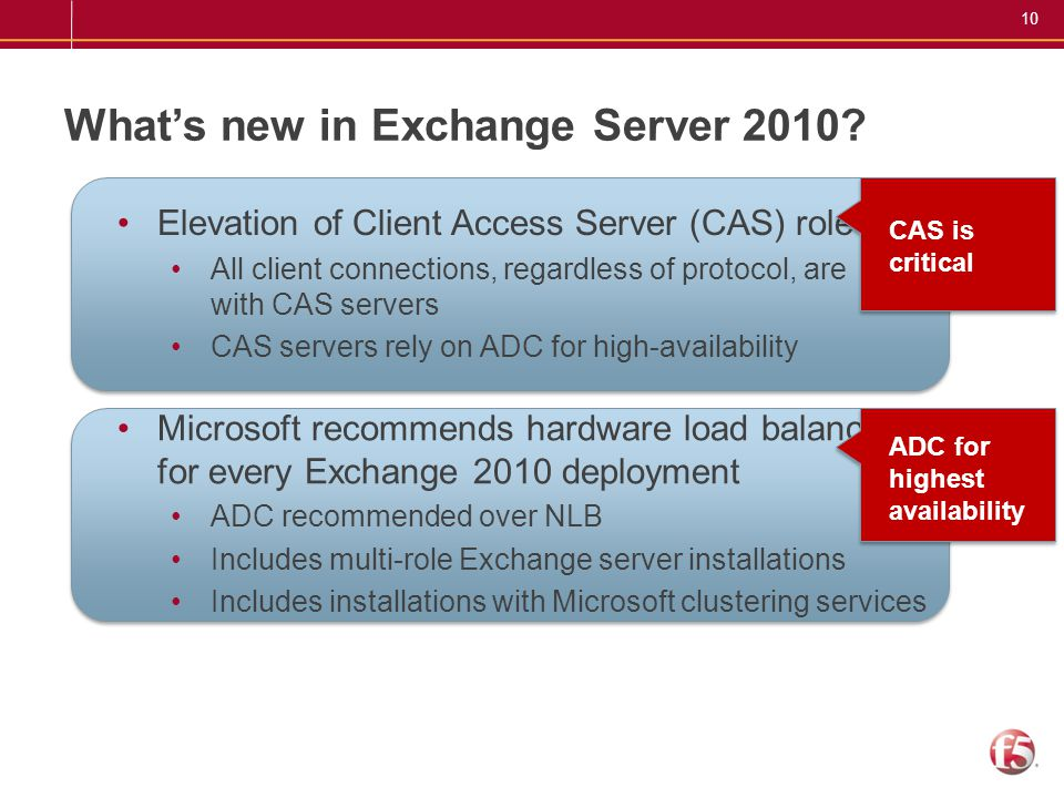 What's new in Exchange Server 2010