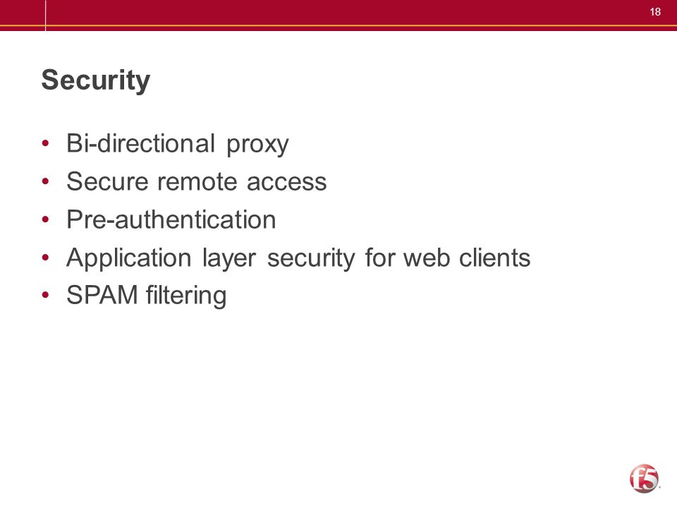 Security Bi-directional proxy Secure remote access Pre-authentication