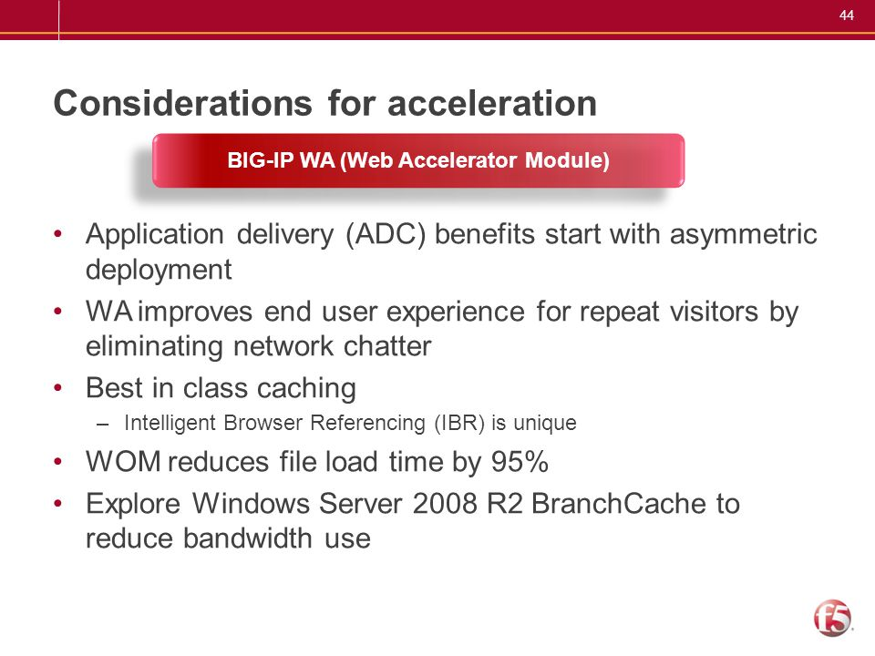 Considerations for acceleration