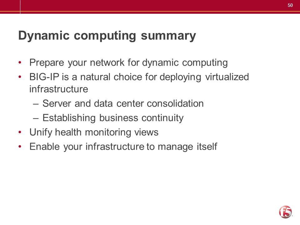Dynamic computing summary