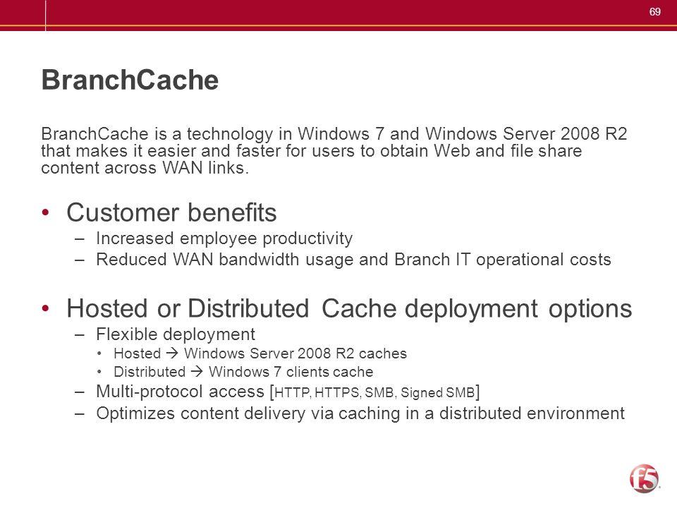 BranchCache Customer benefits