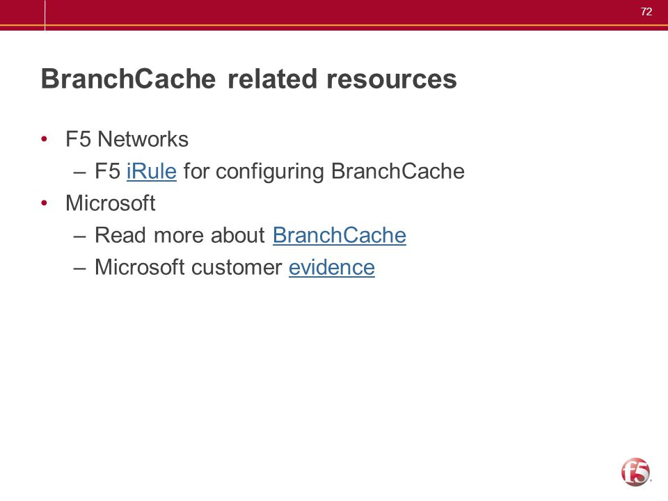 BranchCache related resources