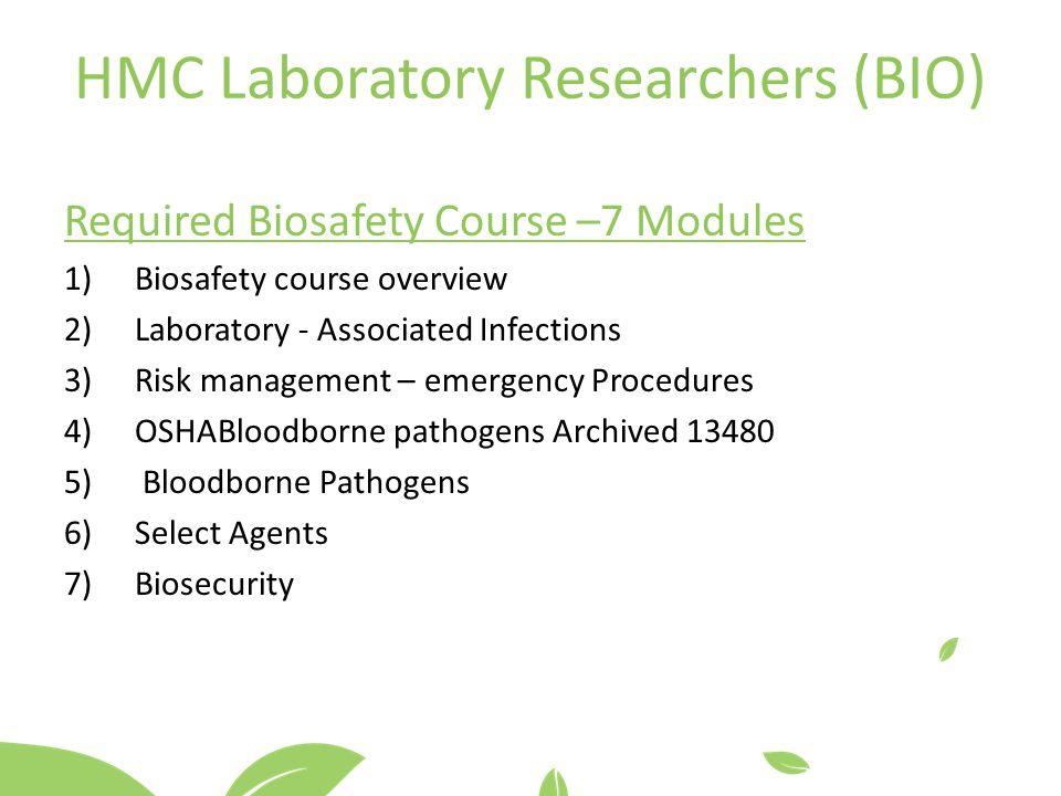 HMC Laboratory Researchers (BIO)