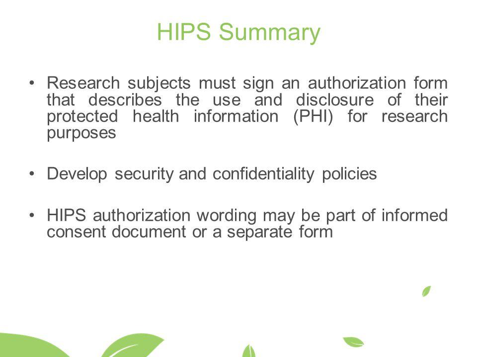 HIPS Summary