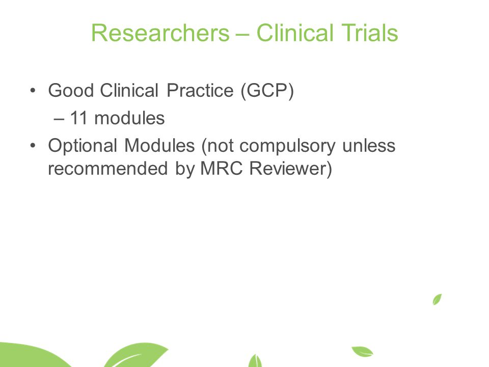 Researchers – Clinical Trials