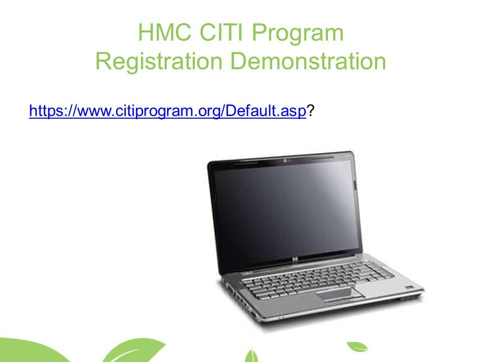 HMC CITI Program Registration Demonstration
