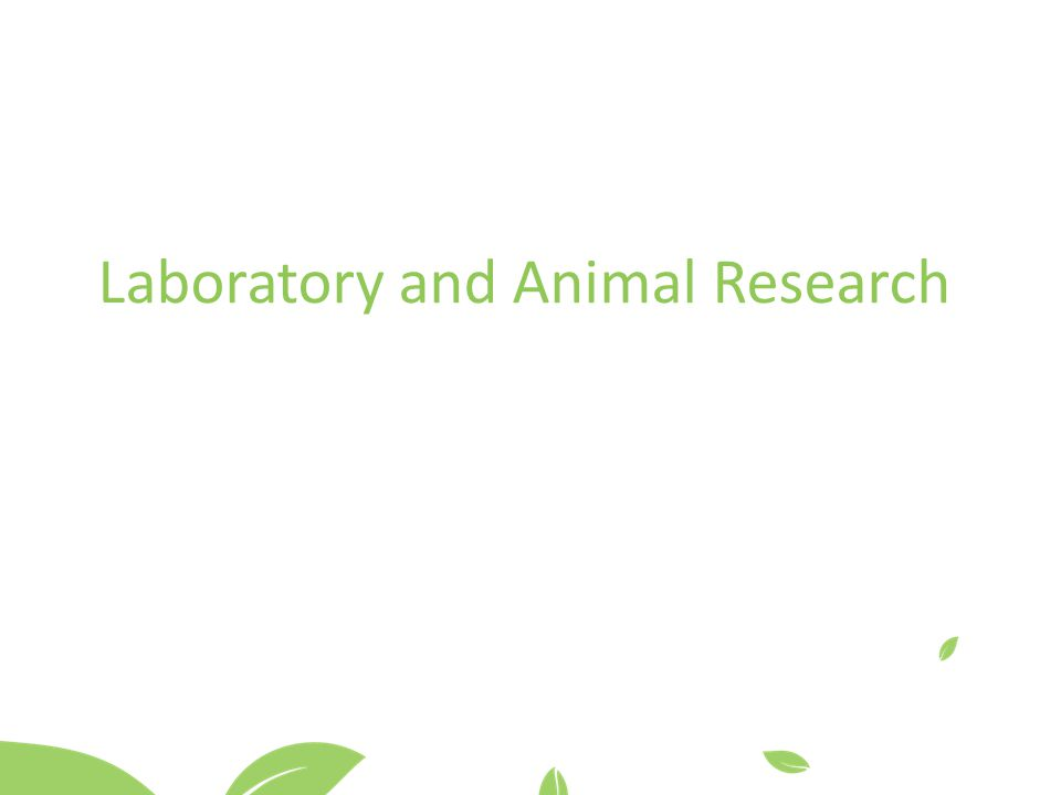 Laboratory and Animal Research