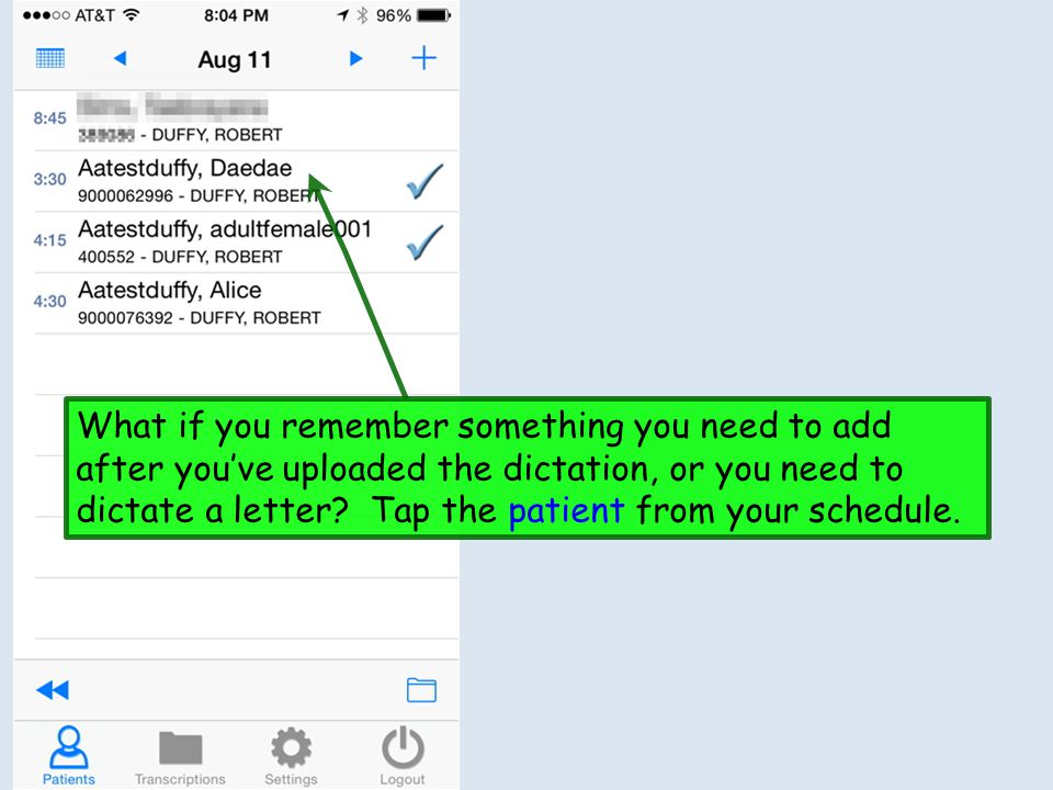 What if you remember something you need to add after you've uploaded the dictation, or you need to dictate a letter.