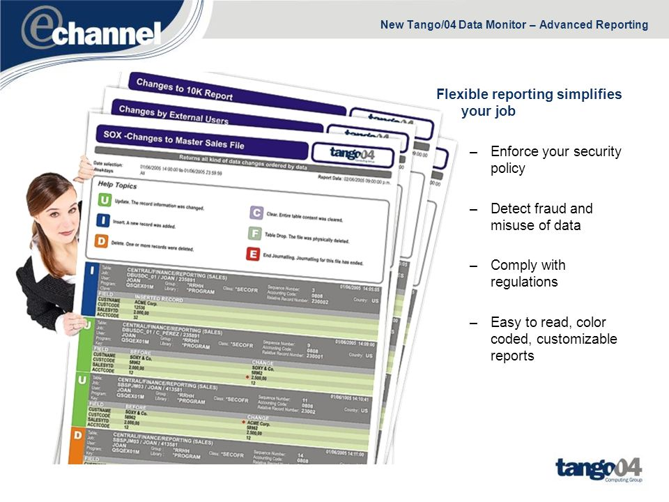 New Tango/04 Data Monitor – Advanced Reporting