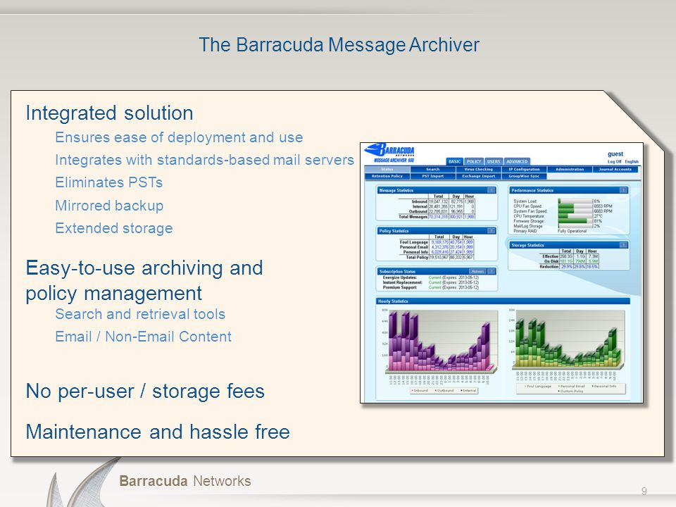 The Barracuda Message Archiver