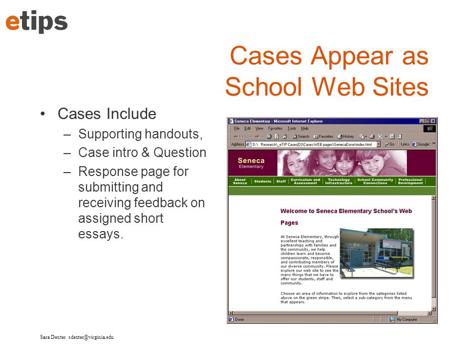 Cases Appear as School Web Sites