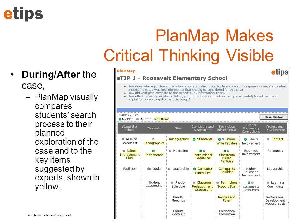 PlanMap Makes Critical Thinking Visible