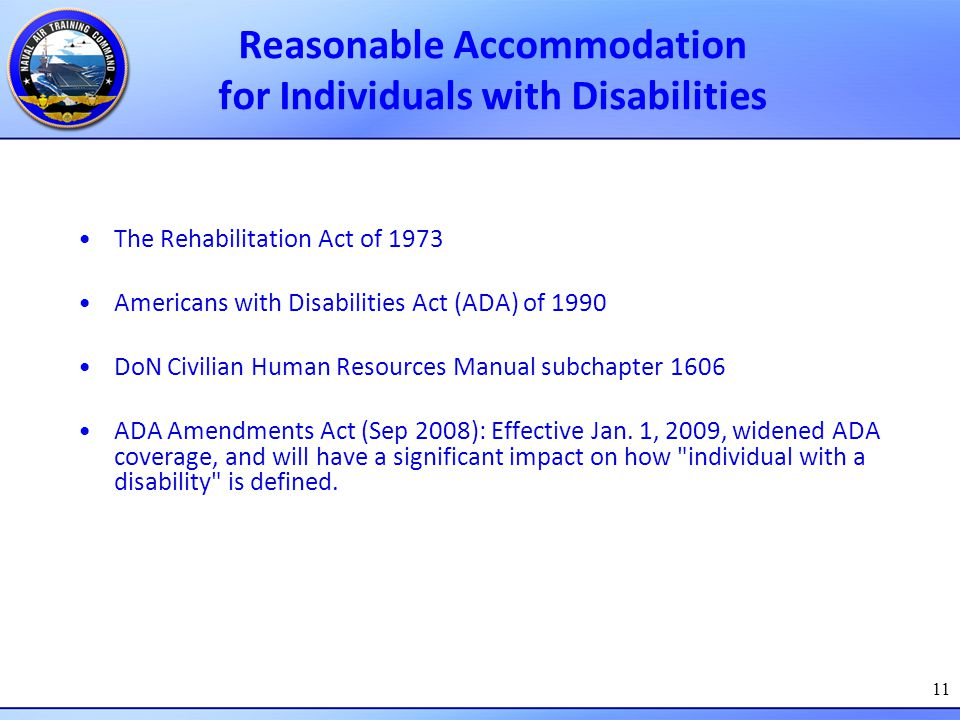 Reasonable Accommodation for Individuals with Disabilities