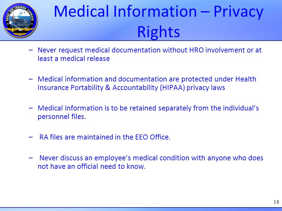 Medical Information – Privacy Rights