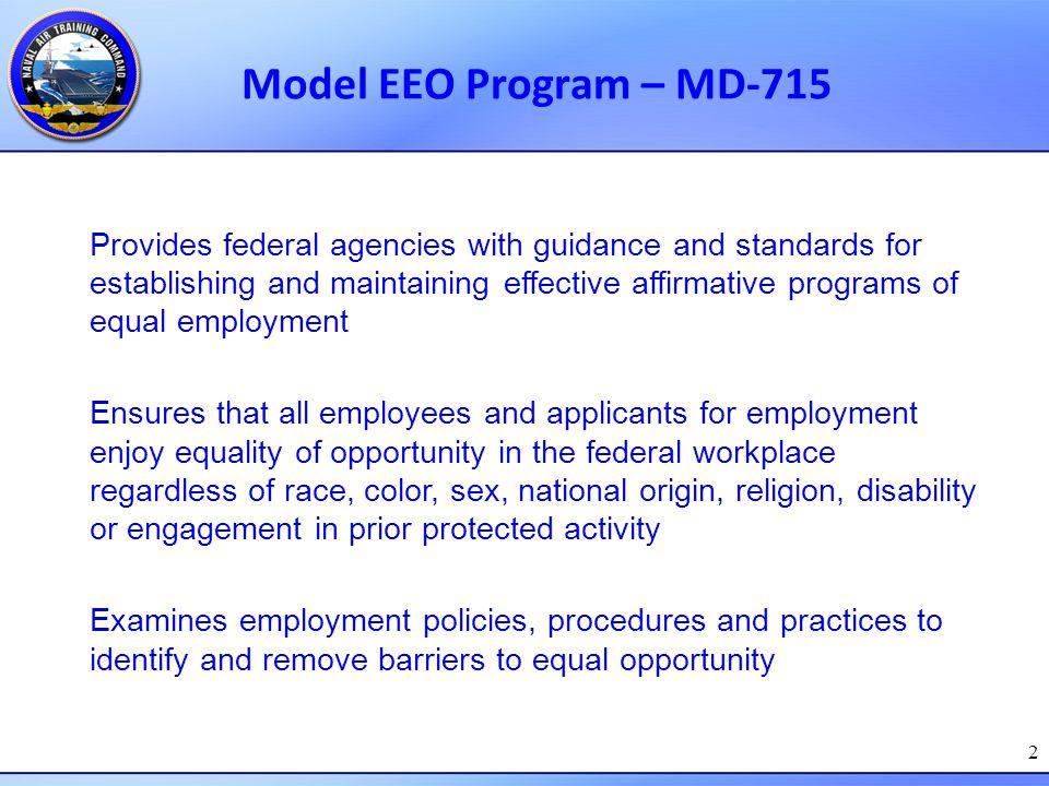 Model EEO Program – MD-715