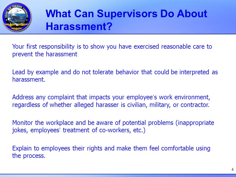 What Can Supervisors Do About Harassment