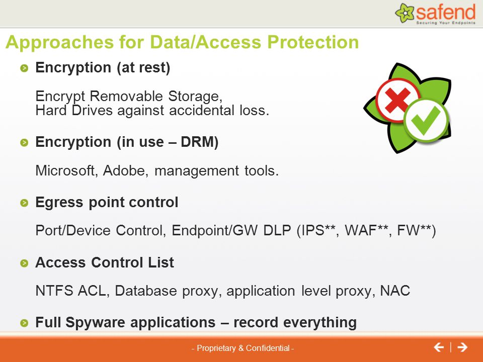 Approaches for Data/Access Protection
