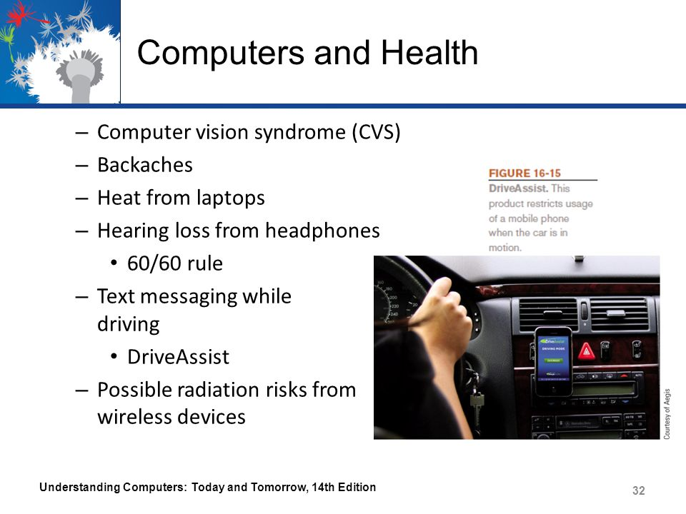 Computers and Health Computer vision syndrome (CVS) Backaches