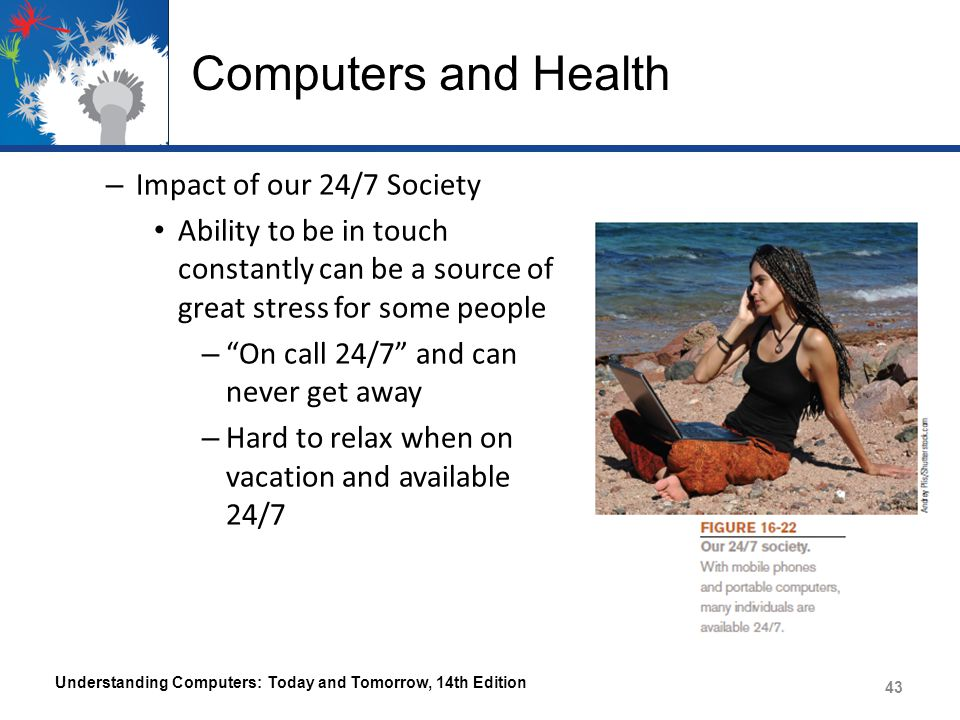 Computers and Health Impact of our 24/7 Society