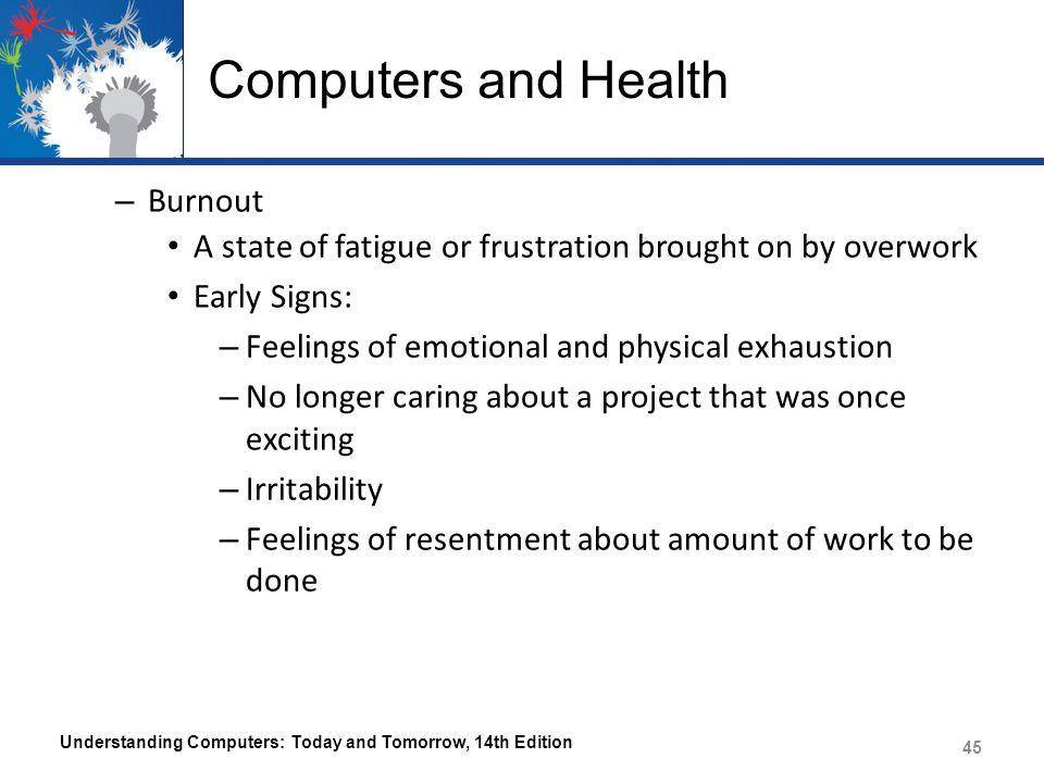 Computers and Health Burnout