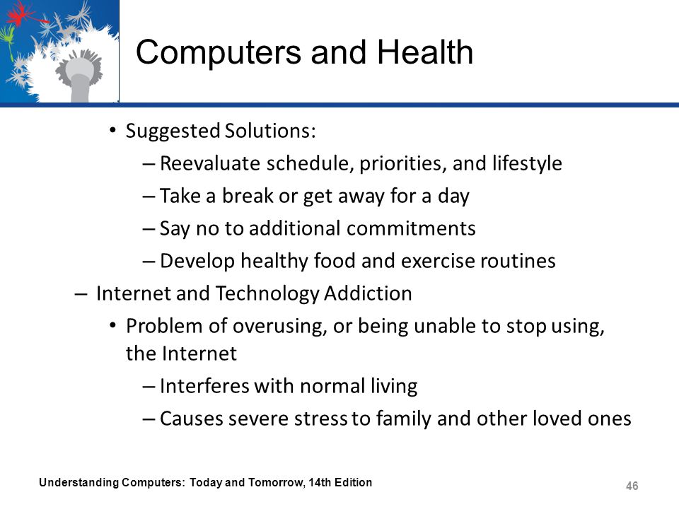 Computers and Health Suggested Solutions: