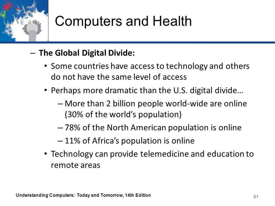 Computers and Health The Global Digital Divide: