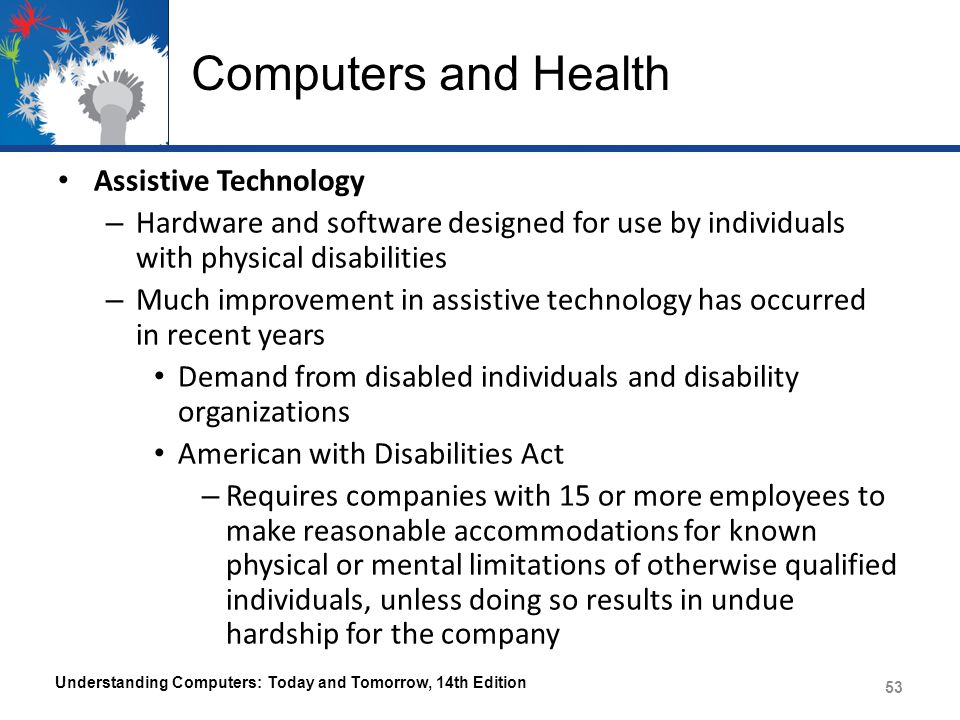 Computers and Health Assistive Technology