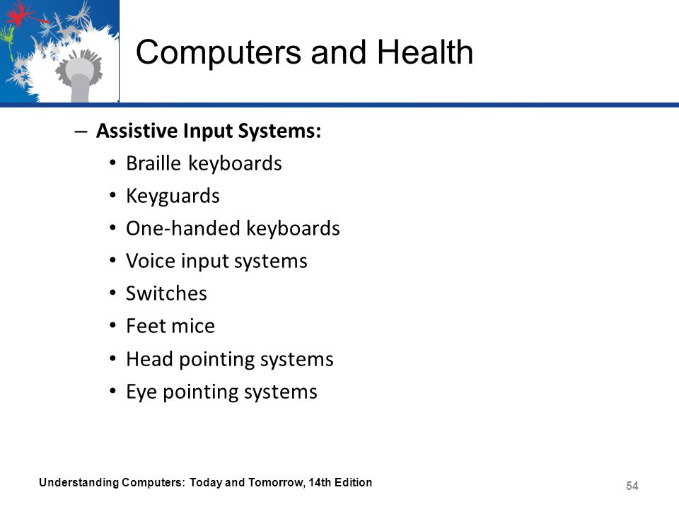 Computers and Health Assistive Input Systems: Braille keyboards