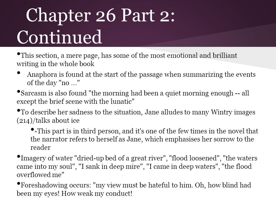Chapter 26 Part 2: Continued