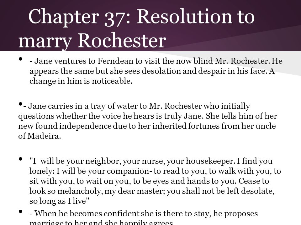 Chapter 37: Resolution to marry Rochester