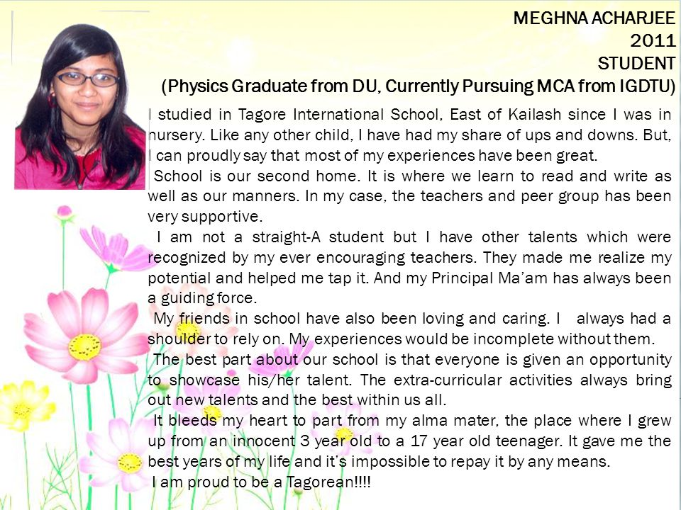 (Physics Graduate from DU, Currently Pursuing MCA from IGDTU)