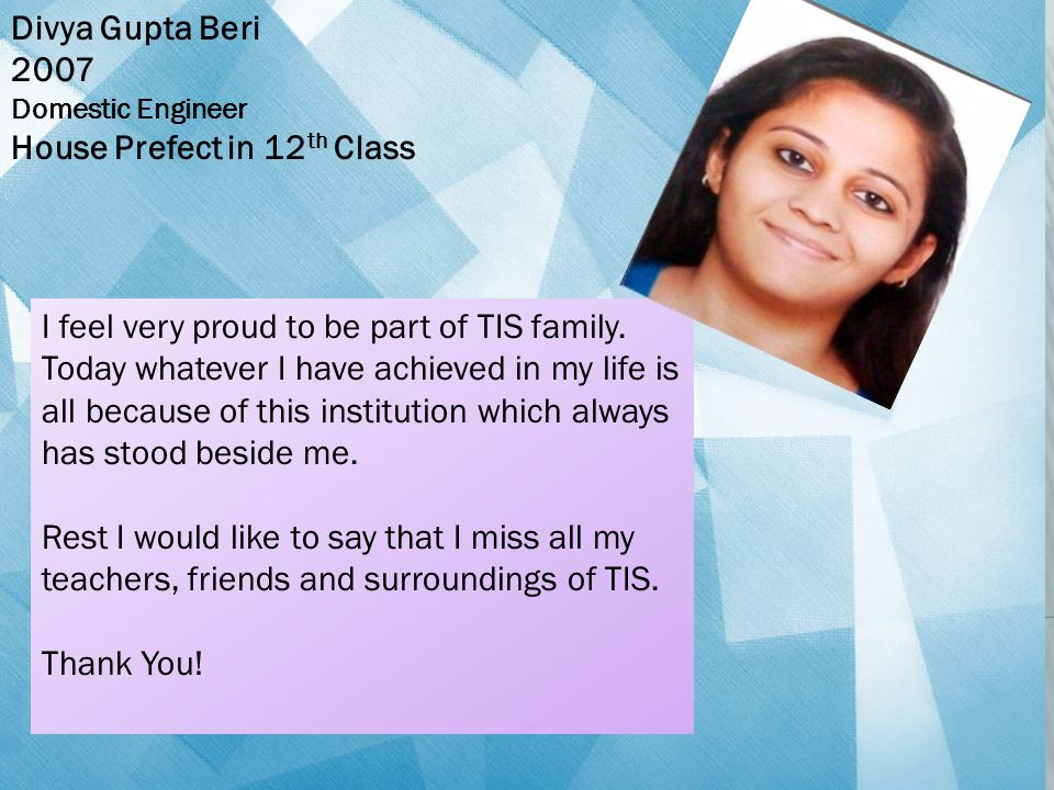 House Prefect in 12th Class