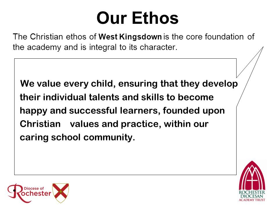 Our Ethos We value every child, ensuring that they develop