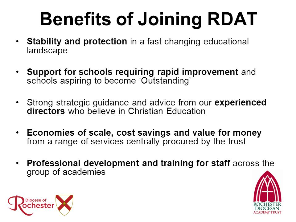 Benefits of Joining RDAT