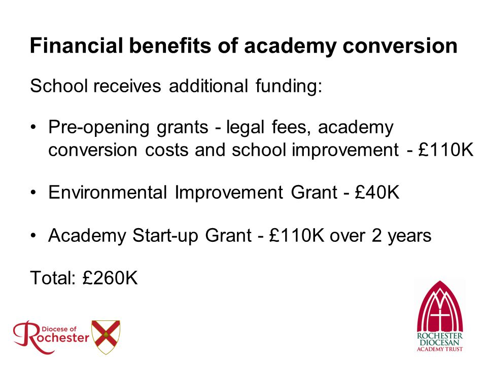 Financial benefits of academy conversion