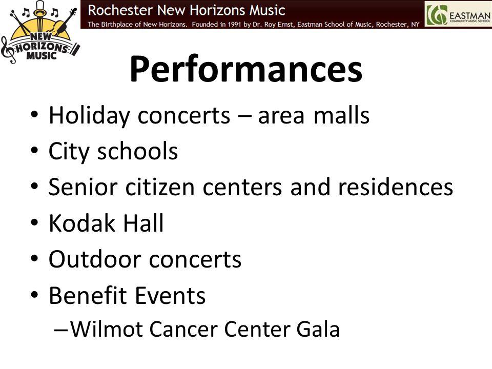 Performances Holiday concerts – area malls City schools