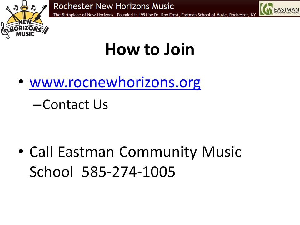 How to Join www.rocnewhorizons.org